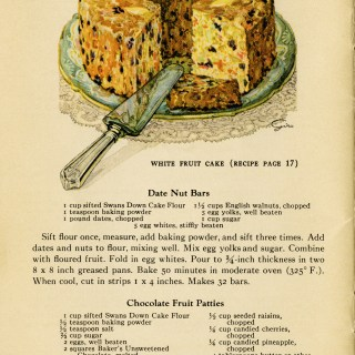 Fruitcake and Recipes ~ Free Vintage Graphics