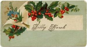 Victorian calling card, vintage ephemera, free vintage card, old fashioned visiting card, Christmas calling card