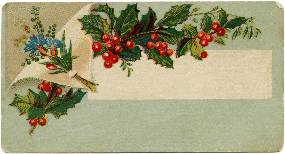 Victorian calling card, vintage ephemera, free vintage card, old fashioned visiting card, Christmas calling card