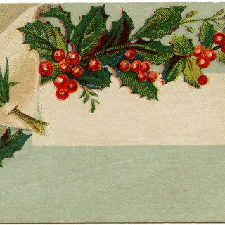 Victorian Christmas Calling Card ~ Free Image