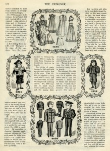 Victorian Christmas doll, vintage Christmas graphics, old book page printable, santa claus illustration, vintage doll clipart