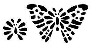 vintage butterfly clip art, black and white graphics, butterfly illustration, printable butterfly stencil