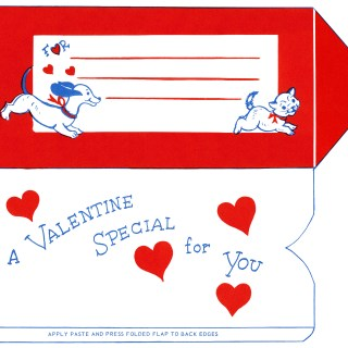 Puppy and Kitten Valentine Printable Envelope
