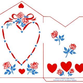 Hearts & Roses Valentine Envelope ~ Free Printable