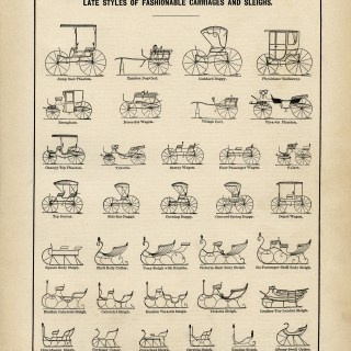 Carriages and Sleighs ~ Free Vintage Graphic