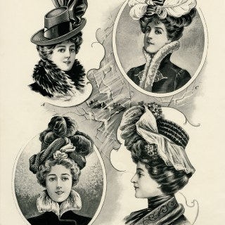 Victorian Midwinter Millinery ~ Free Graphics
