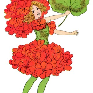 Geranium Flower Child ~ Free Storybook Illustration