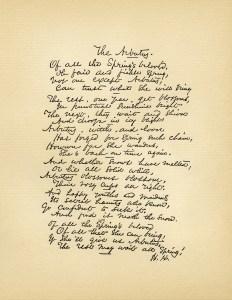 The Arbutus poem, Helen Jackson poetry, old book page, aged paper digital, vintage spring poem