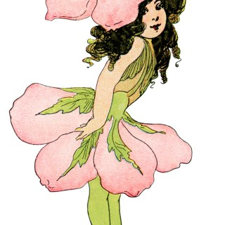 Wild Rose Flower Child ~ Free Storybook Illustration