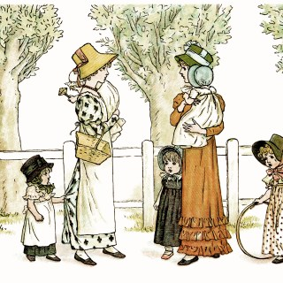 Happy Days by Kate Greenaway ~ Free Image