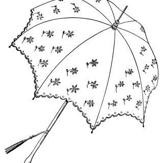 Pretty Parasols ~ Free Vintage Clip Art