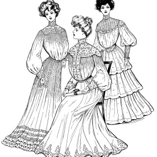 Commencement Gowns 1904