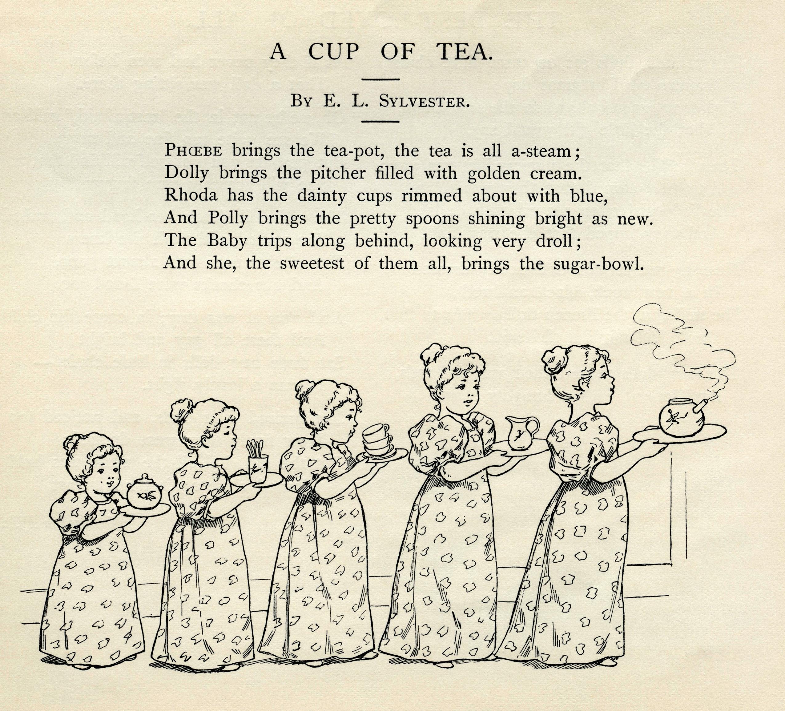 A Cup of Tea Vintage Clip Art | Old Design Shop Blog