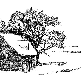 Snow Covered Home in the Country