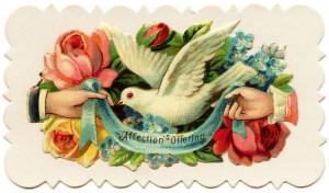Victorian calling card, vintage visiting card, vintage ephemera, junk journal printable, small floral card