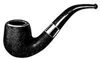 Vintage Smoking Pipe Clip Art - Old Design Shop Blog