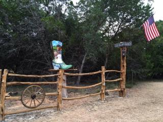 Boot located at Old Glory Ranch gate entrance.