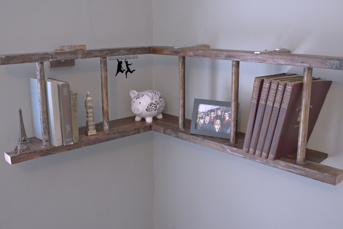 House Wall Shelf Turn An Old Ladder Into A Wall Pot Rack Diy Old House