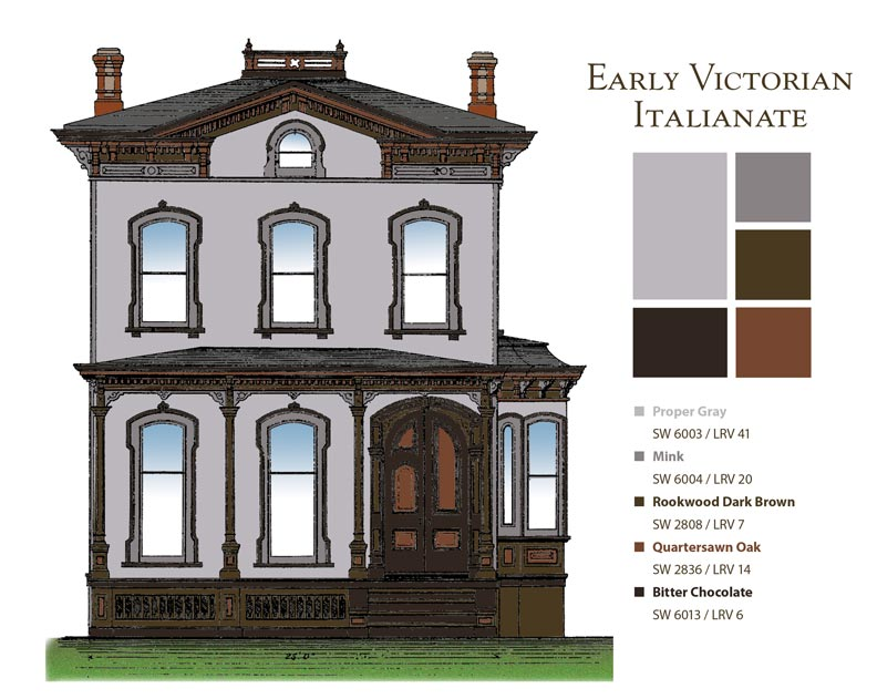 Italianate Style House Interior How To Choose Paint Colors For Victorian Houses Old