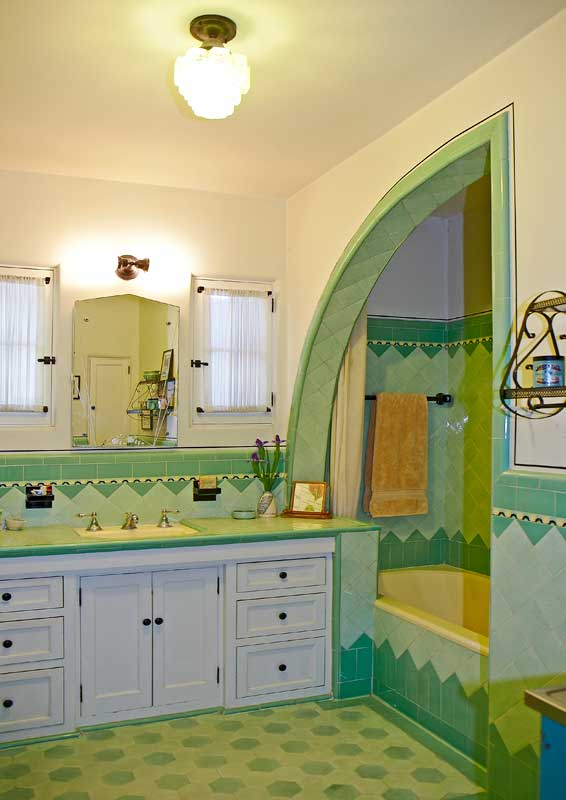 Art Deco Bathroom A Bright Art Deco Bathroom Old House Journal Magazine