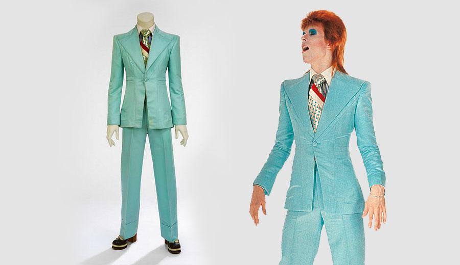 David Bowie and Blue Suit