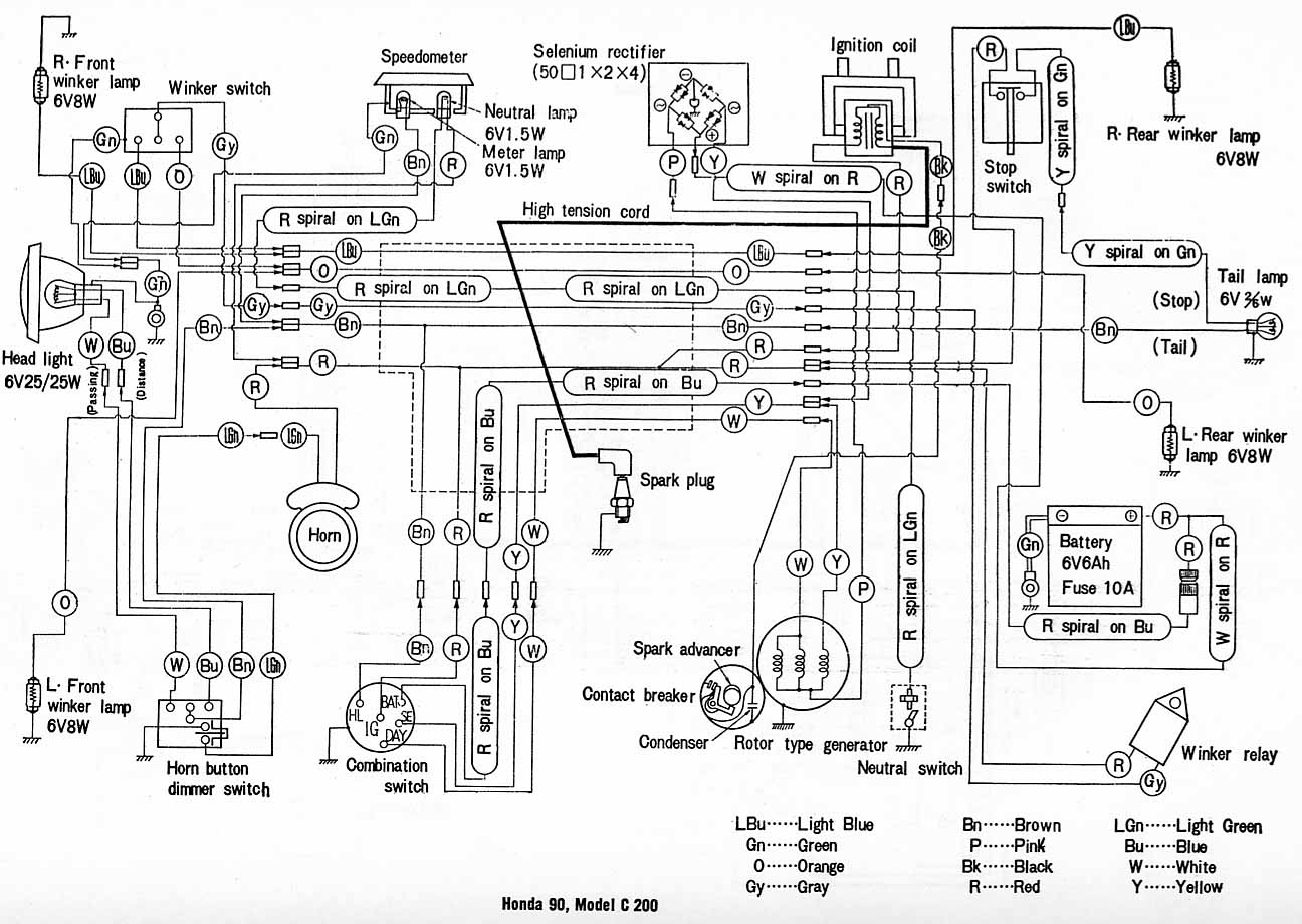cb750 nighthawk wiring diagram
