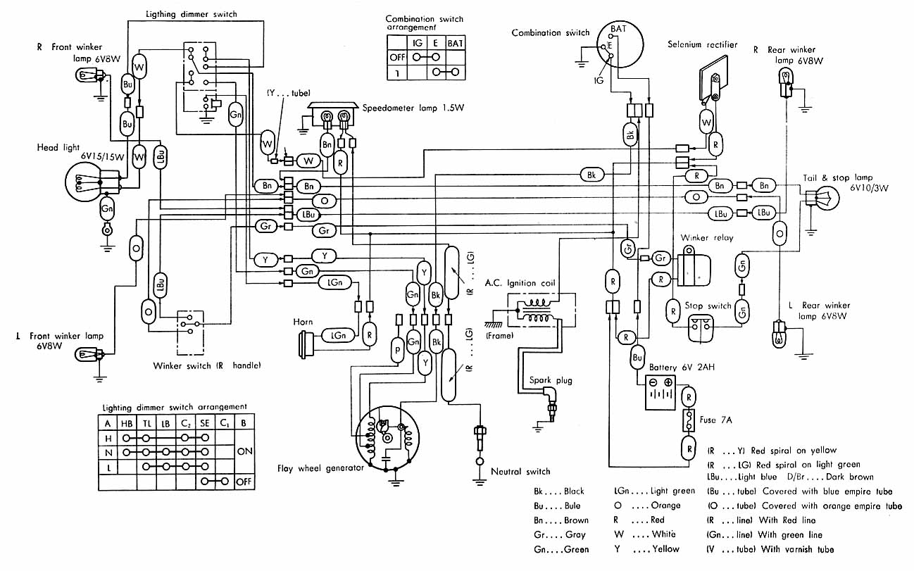 honda c110d electrical wiring diagram