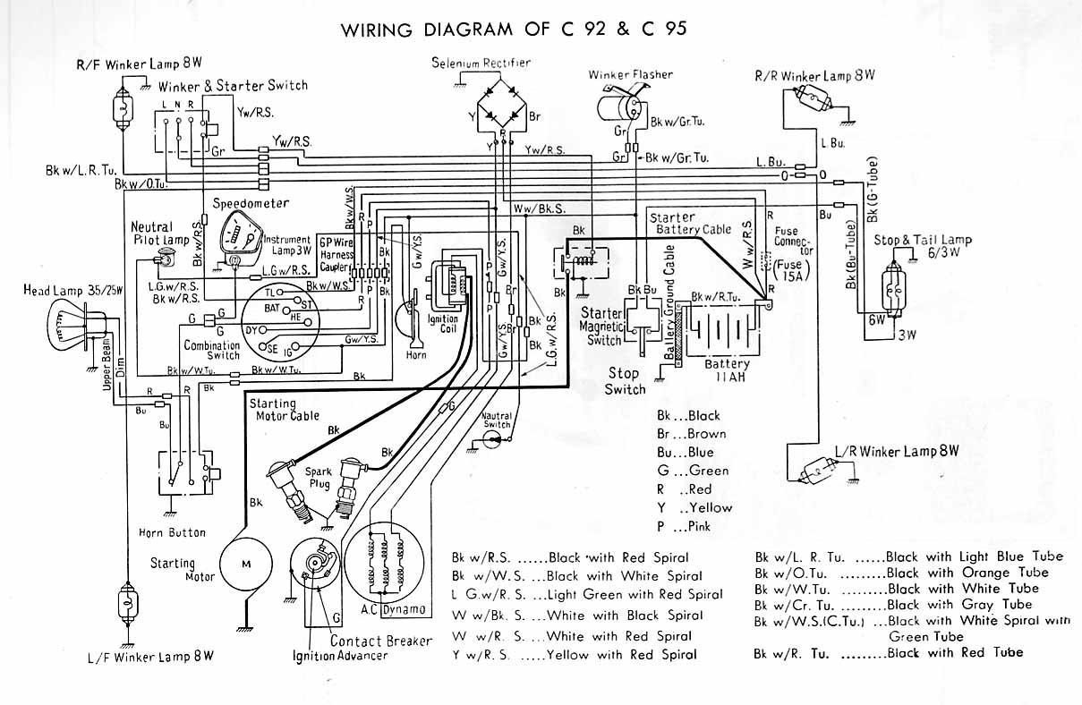 e honda cb 350 wiring diagram