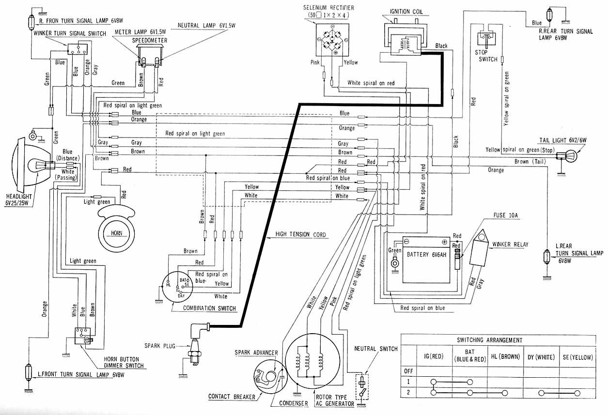 1970 honda ct70 wiring harness