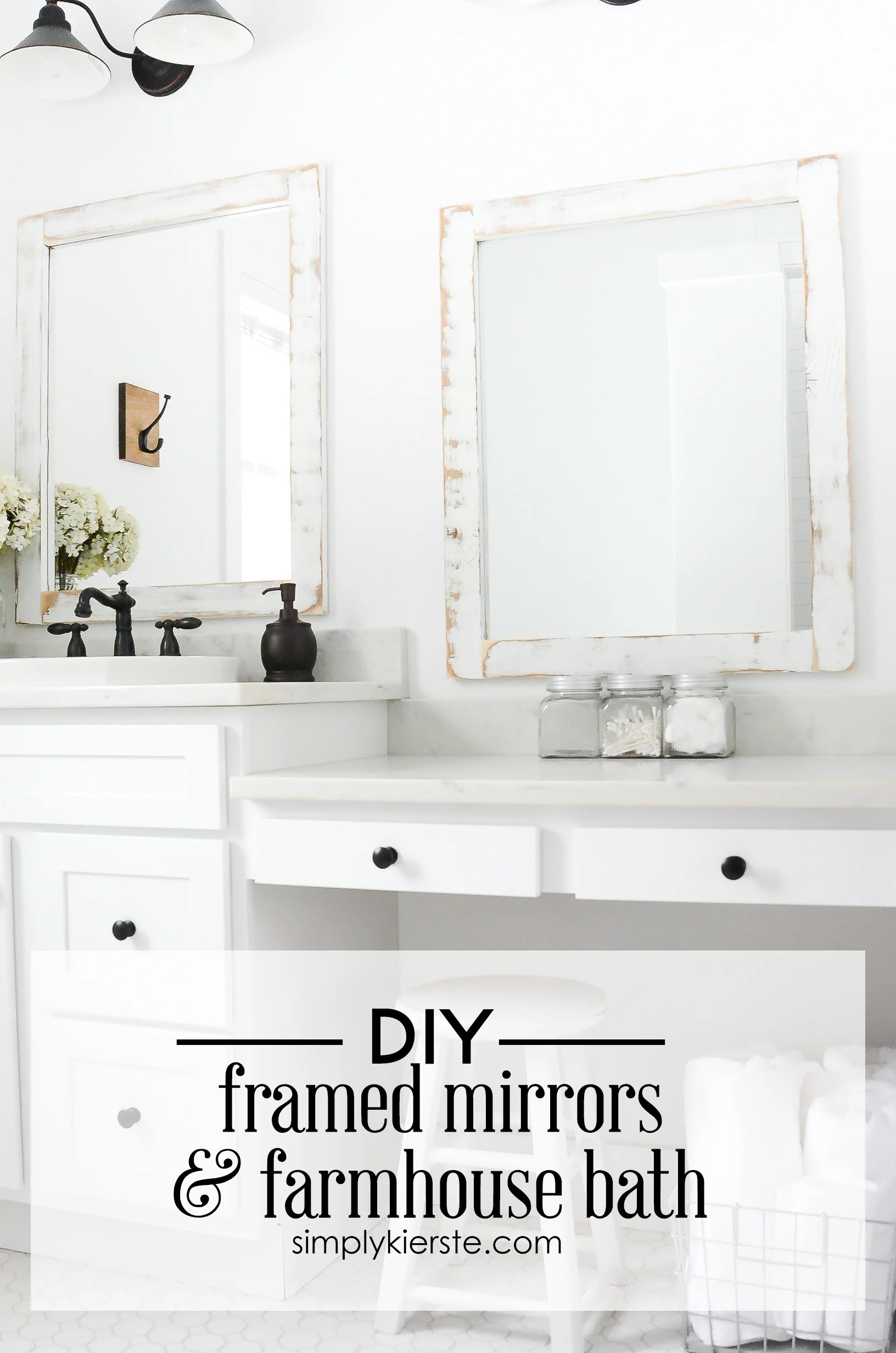 Farmhouse Bathroom Diy Framed Mirrors Old Salt Farm
