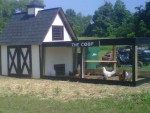 Our original chicken coop made from pallets