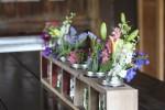 Mason Jar Centerpiece from pallets or barn wood