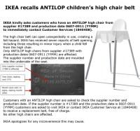 Recall Alert: Ikea recalls high chairs after warning kids ...