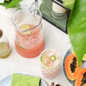 Grapefruit Jalapeno Lime Mocktail Margaritas and Outdoor Entertaining