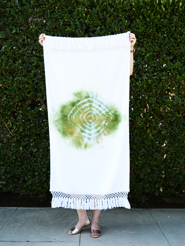 DIY boho beach towel