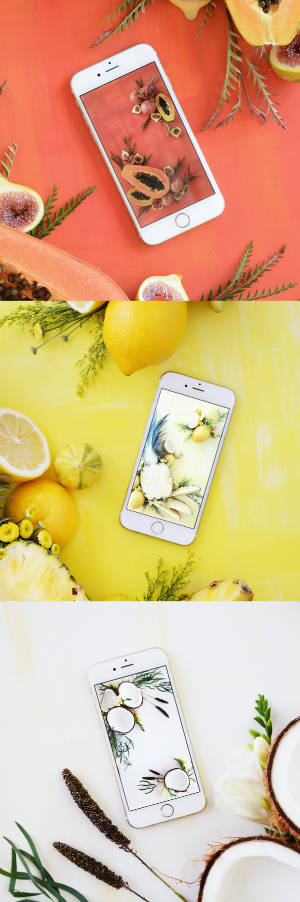Fresh fruit art for your phone. FREE Download!