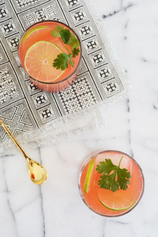grapefruit and tonic mocktail