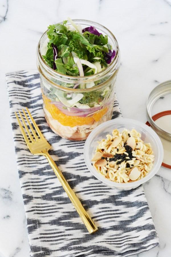 Salad in a Jar - Asian Chicken Salad