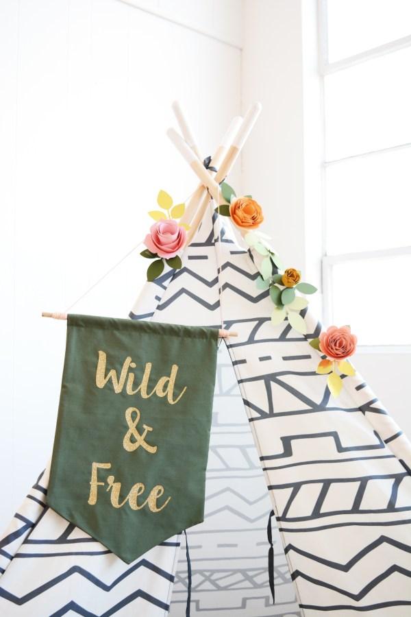 Wild and Free Boho Teepee