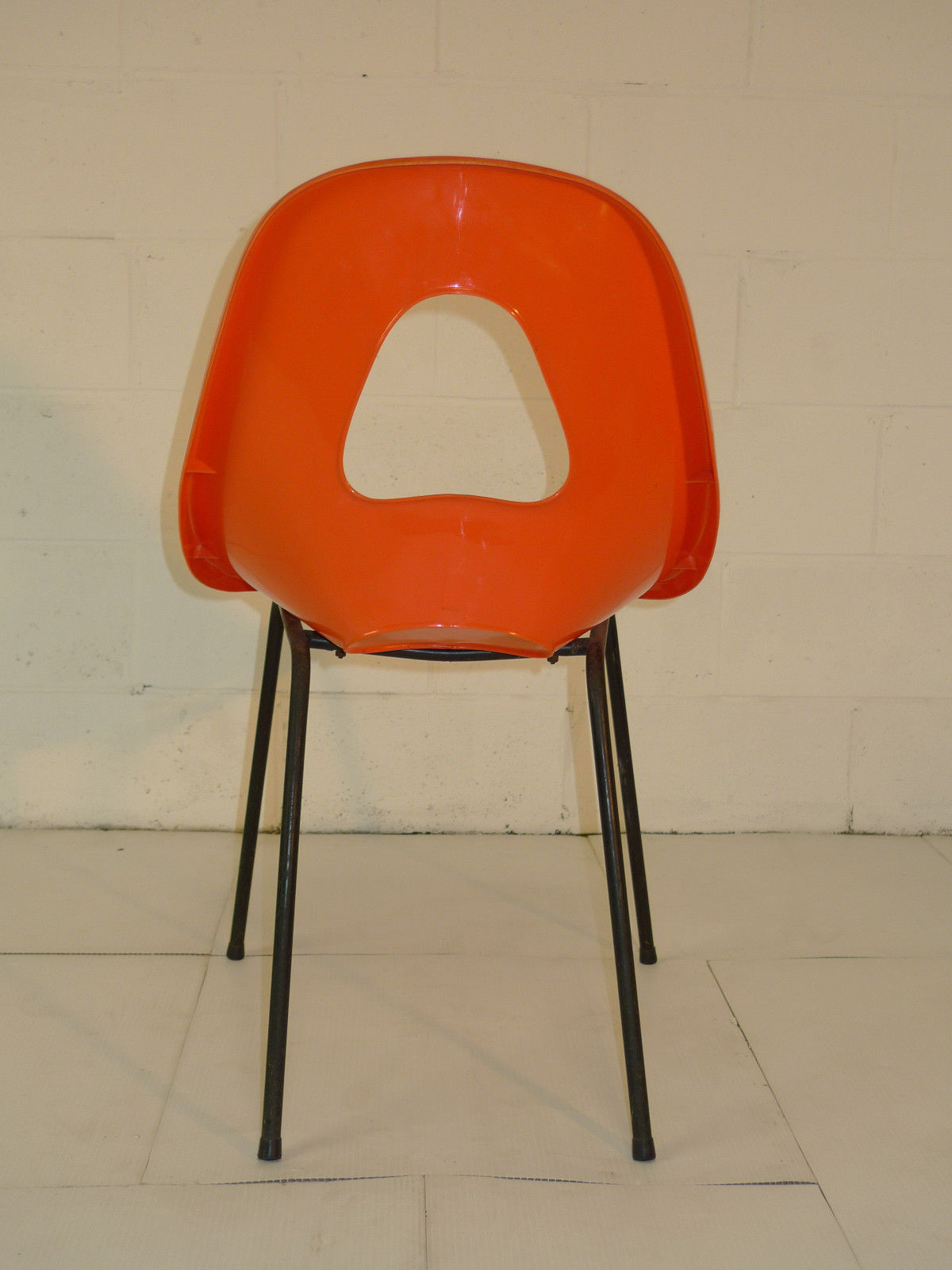 Orange Mid Century Modern Chair Orange Plastic Space Age Mid Century Modern Eames Era