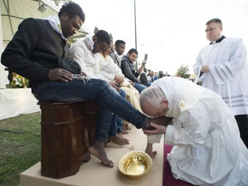 Pope Francis Footwashing