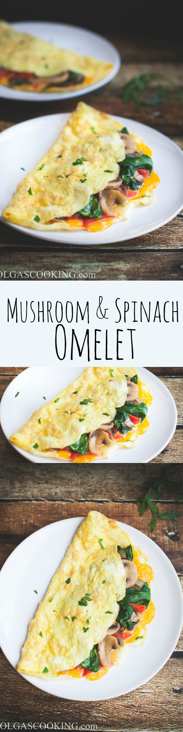 The most delicious and yummy mushroom & spinach omelet recipe! You won ...