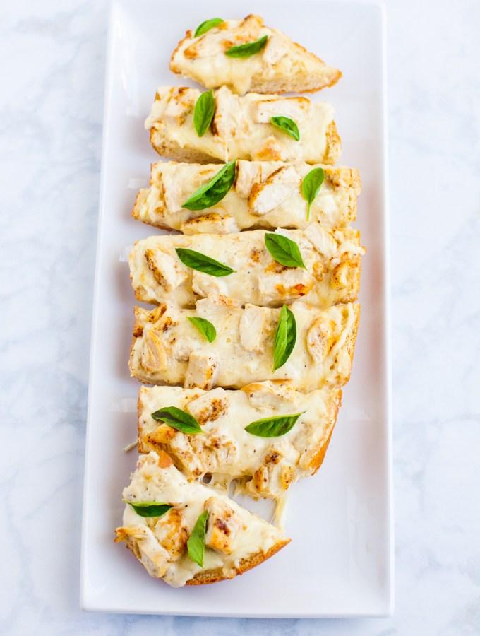 Chicken Alfredo Pizza Bread