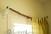 Tree Branch Curtain Rod | oliveandlove