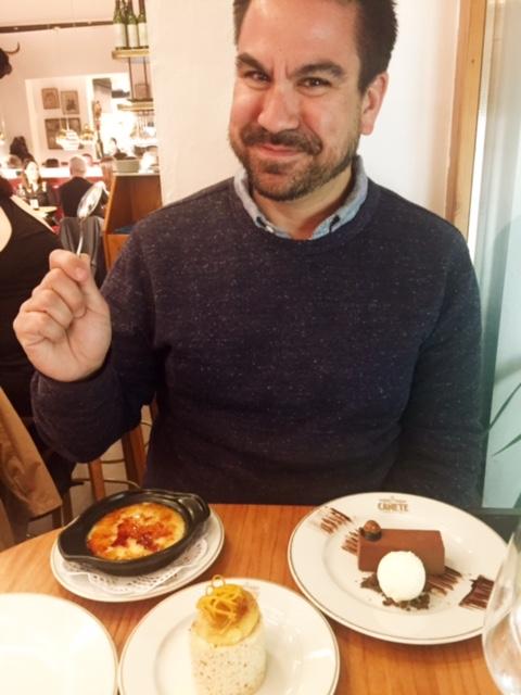Rob with three desserts