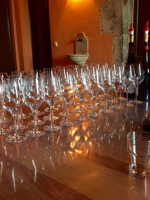 Wine glasses winery