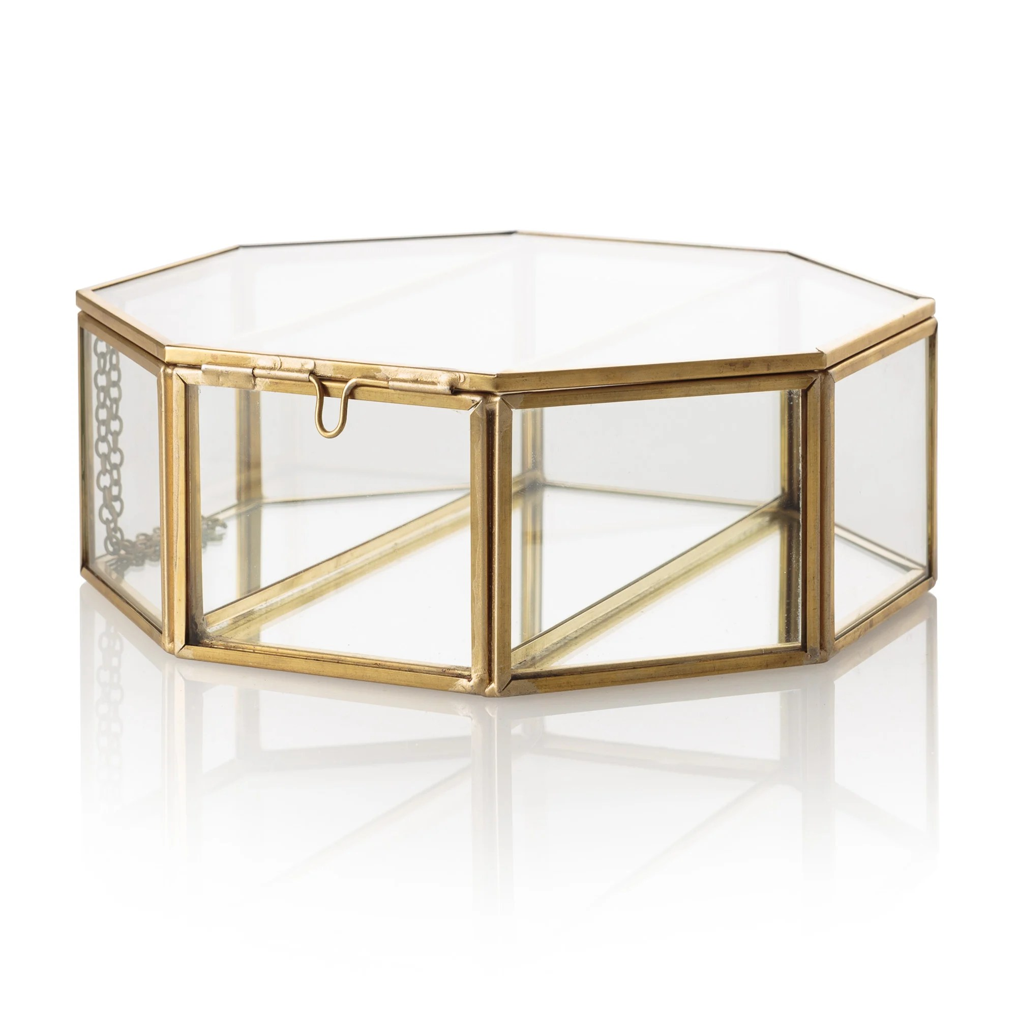 Maisons Du Monde Jewellery Box Gold Glass Jewelry Box Style Guru Fashion Glitz