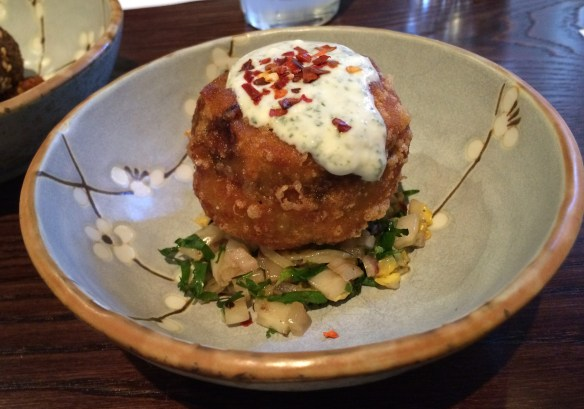 Burma Lane - Roasted lamb potato cake.