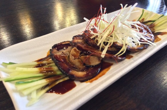 Shizuku - Chargrilled rolled pork belly.