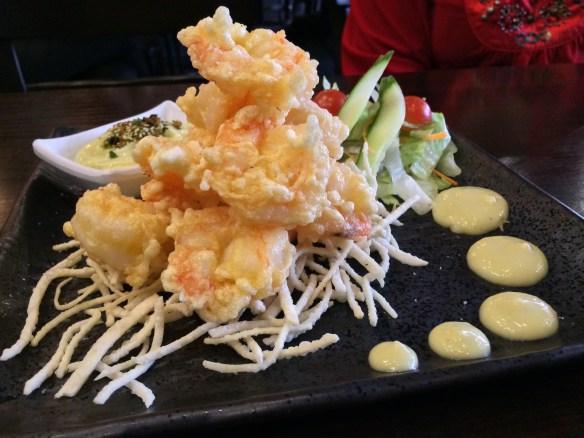 Shizuku - Wasabi prawns.